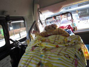 車の中にいる利用者さんの写真