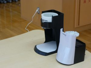 かき氷を作る機械の写真